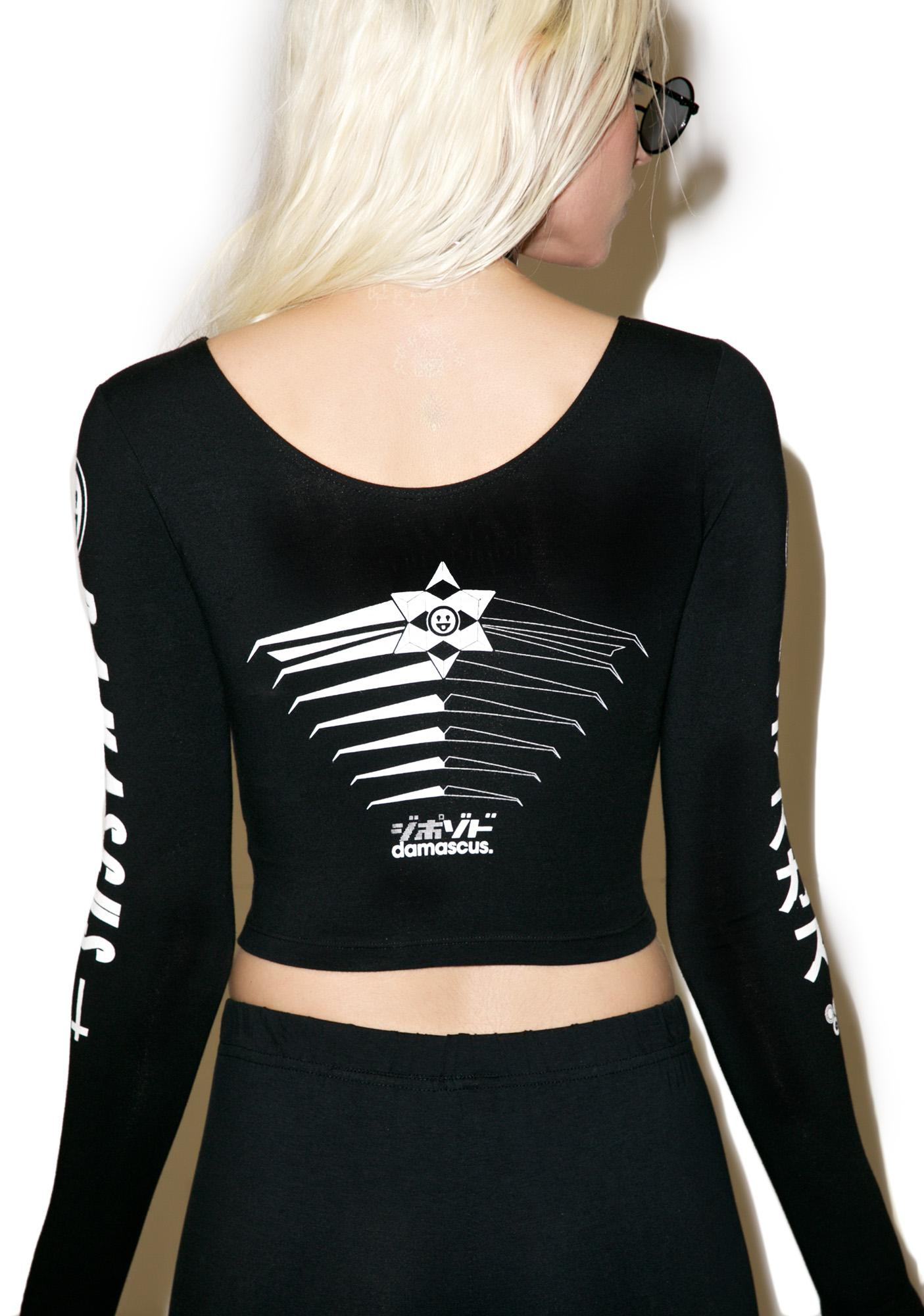 Damascus Trip Long Sleeve Crop Top