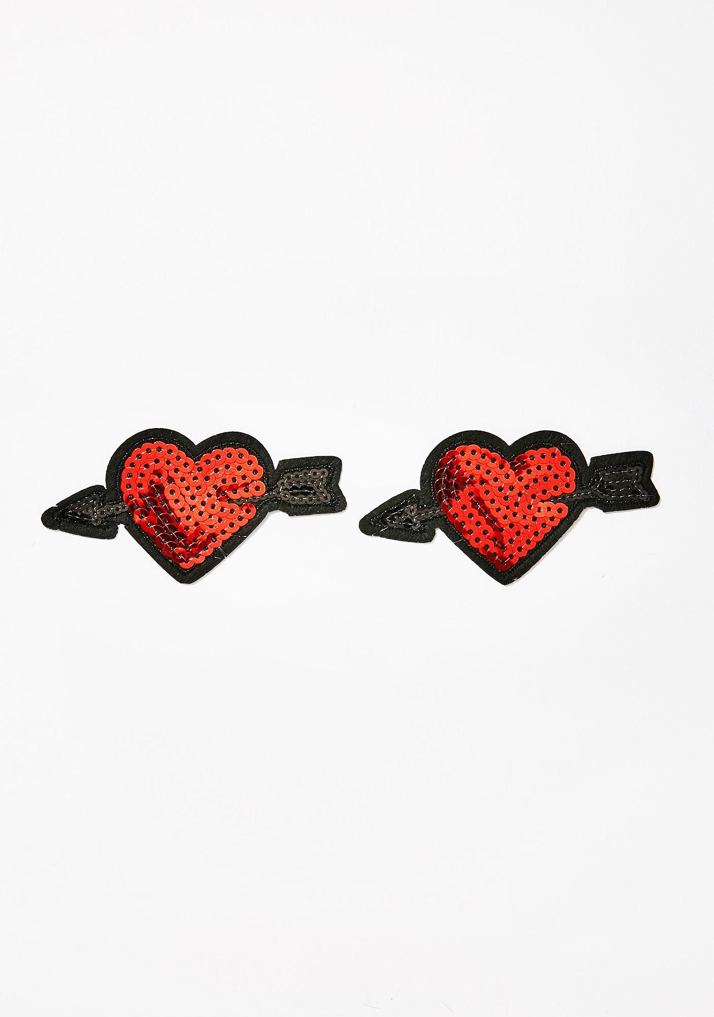 Neva Nude Sequin Arrow Heart Nifty Nipztix Pasties