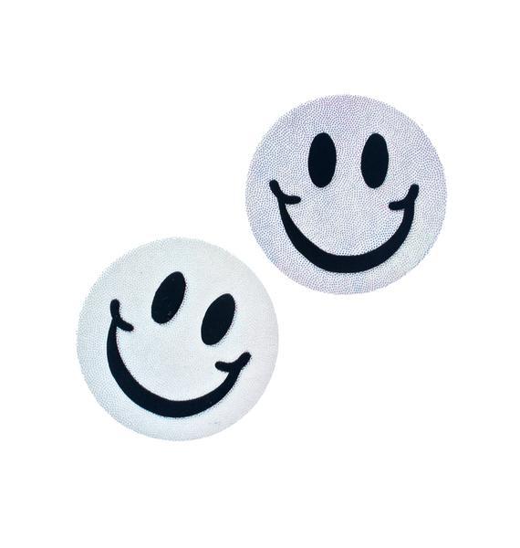 Little Black Diamond Smiley Pasties