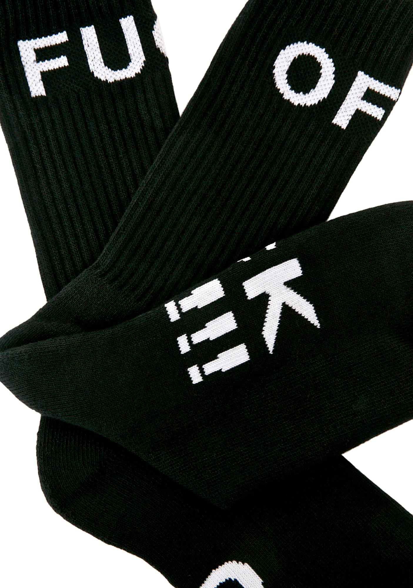 HUF Fuck Off Crew Sock