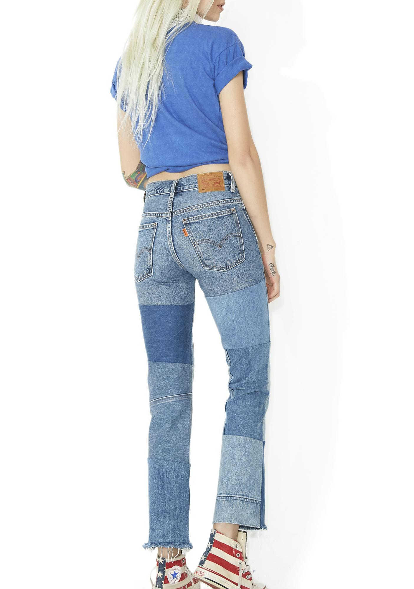 Levis Orange Tab 517 Cropped Boot Cut Jeans