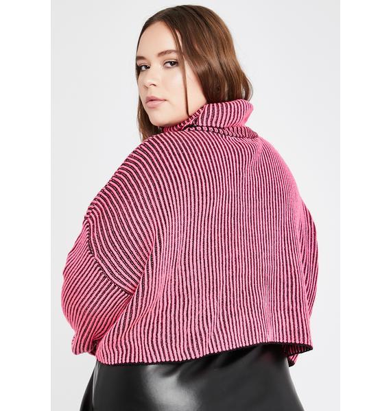 Legit Between The Lines Turtleneck Sweater