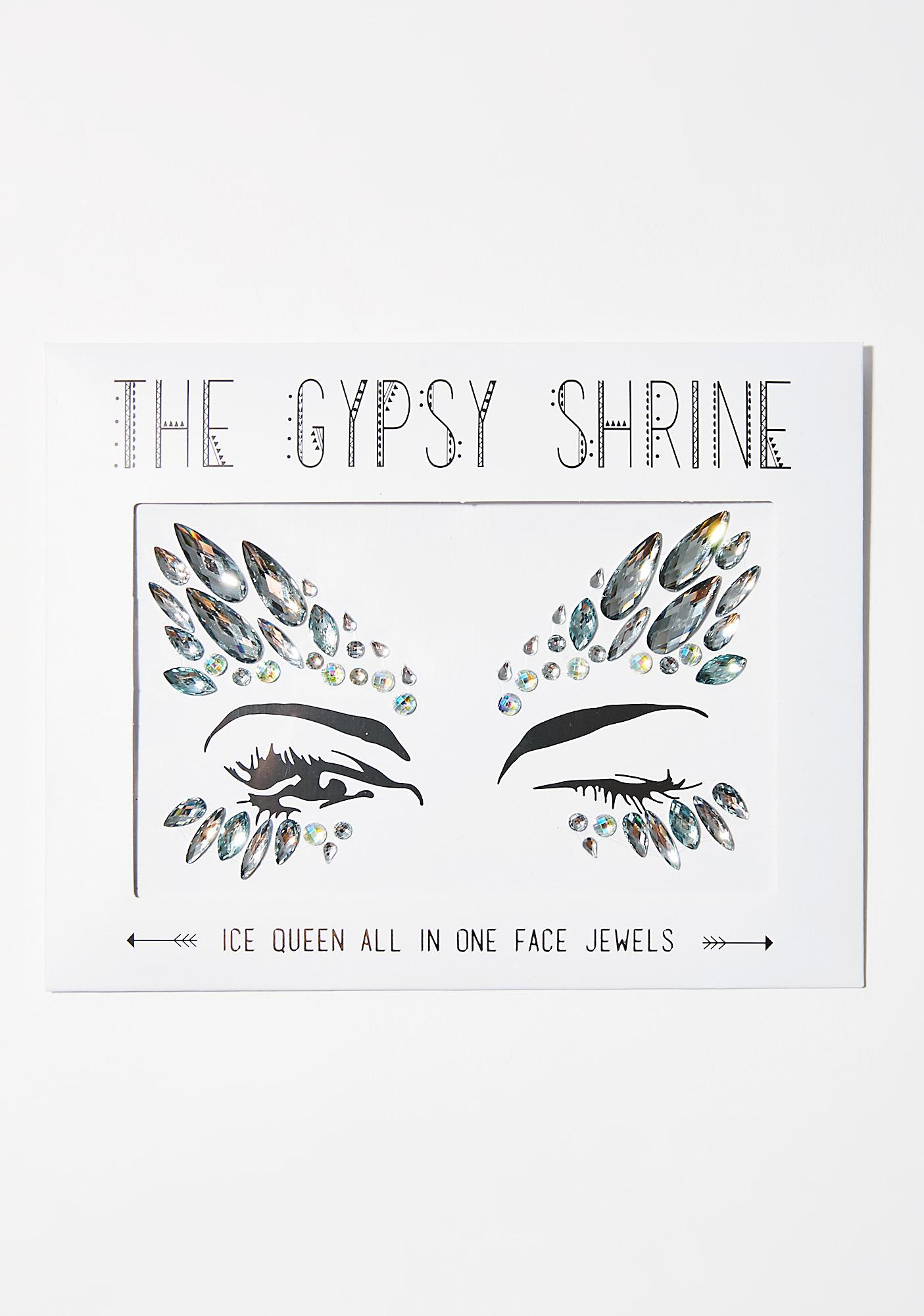 The Gypsy Shrine Silver Ice Queen Face Jewels
