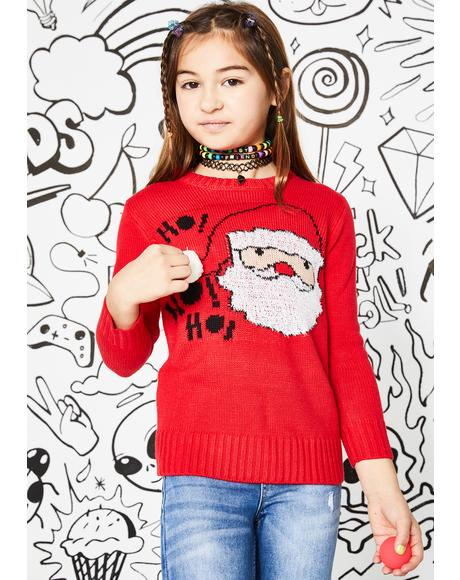 Kids Nice List Santa Sweater