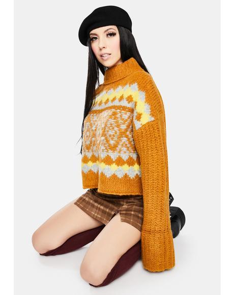 Cinnamon Toast Alpine Pullover Sweater