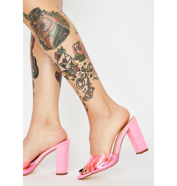 Miss Brunchin' Brat Clear Heels