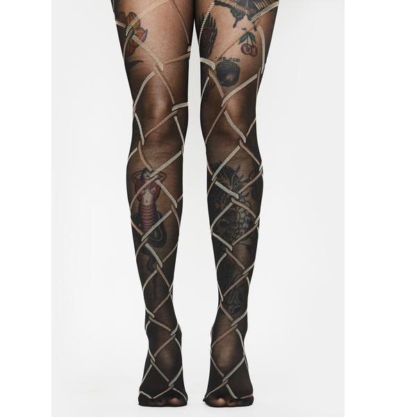 Total Misconduct Printed Tights