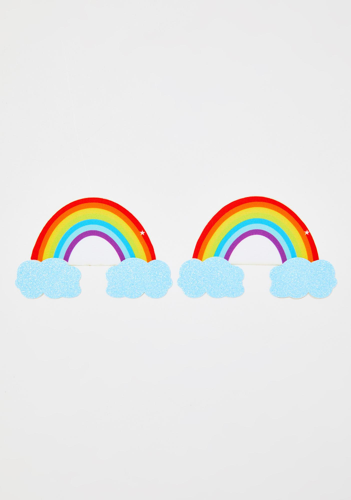 Neva Nude Rainbow Glitter Cloud Pasties