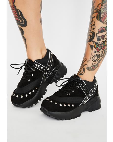 Blaz3 Punk Platform Sneakers