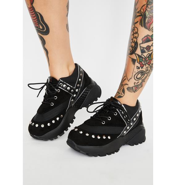 Y.R.U. Blaz3 Punk Platform Sneakers