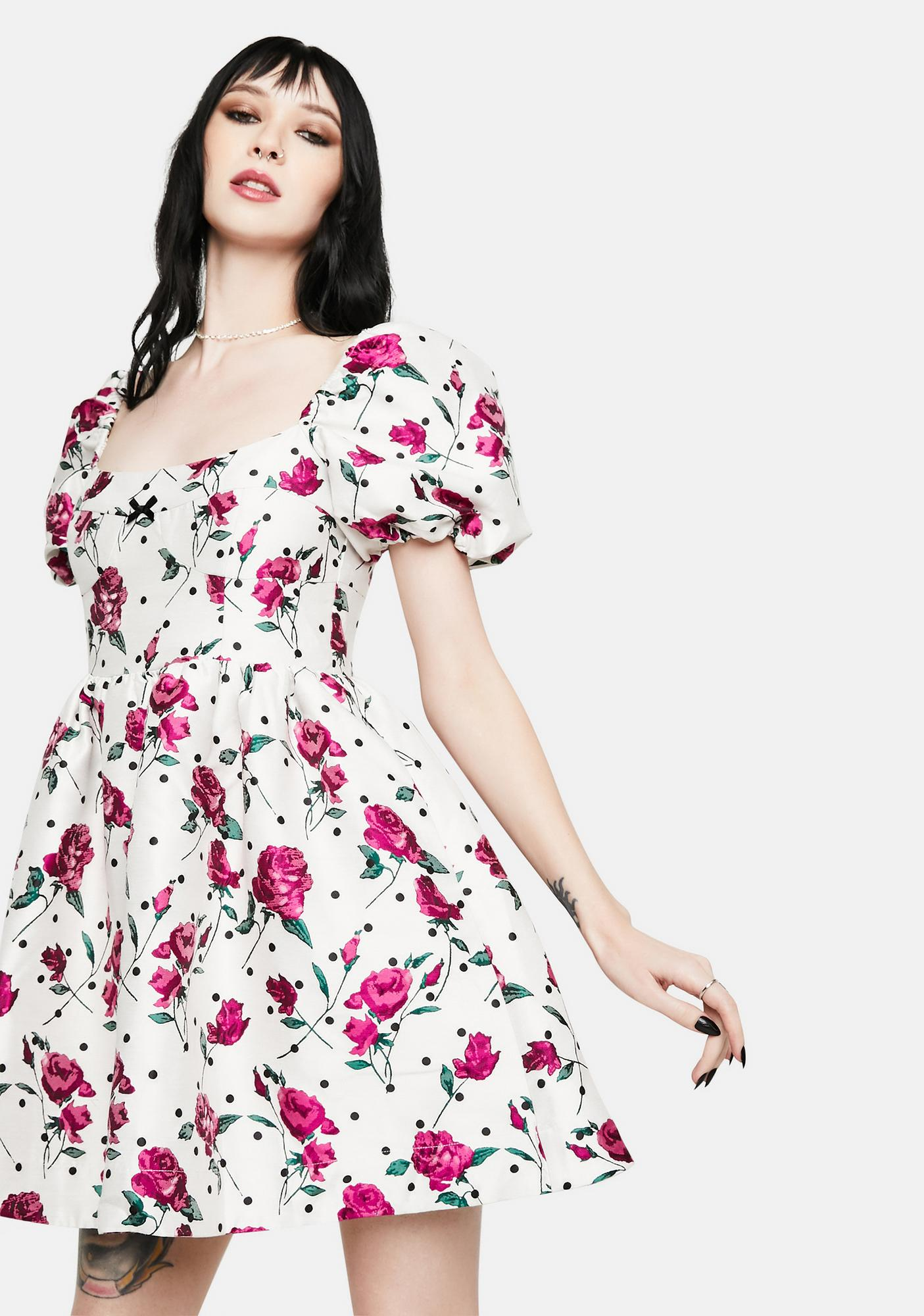For Love & Lemons Bobbie Floral Party Dress