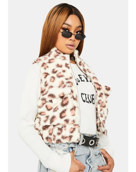 Sugar Give Me Love Faux Fur Vest