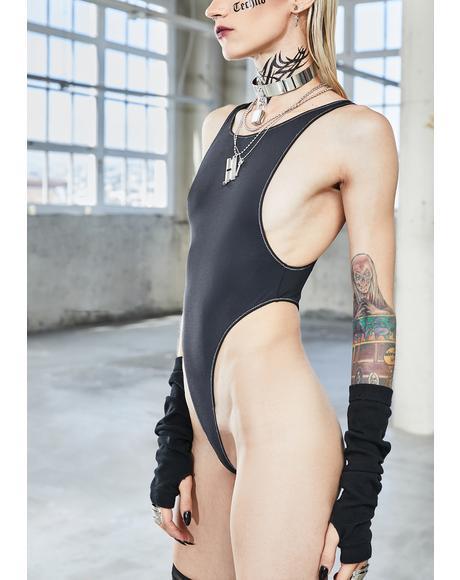 Bassline High Waist Contrast Stitch Bodysuit