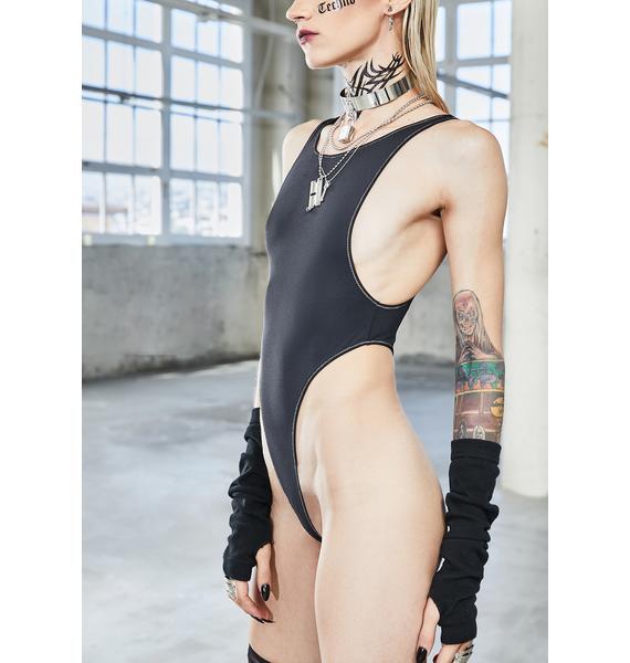 DARKER WAVS Bassline High Waist Ribbed Bodysuit