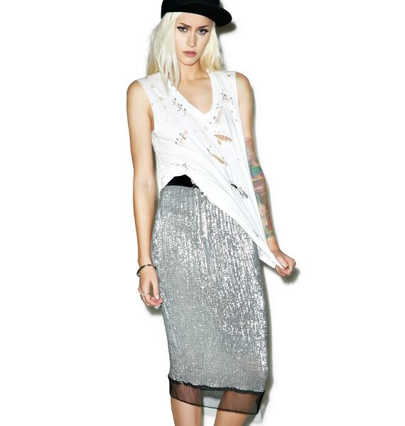 Harlet Sequin Pencil Skirt