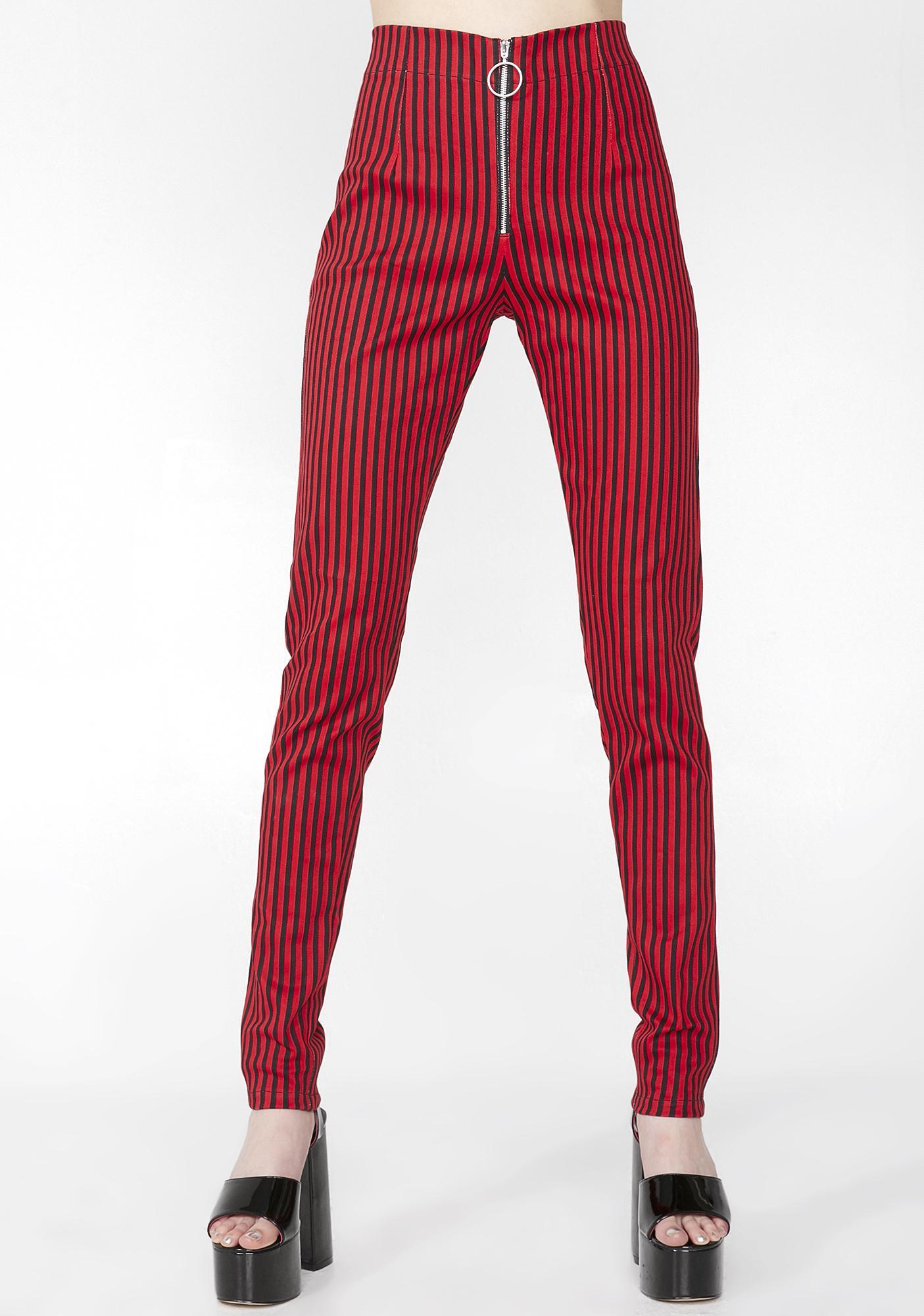 Motel Fire Pinstripe Jolim Trousers