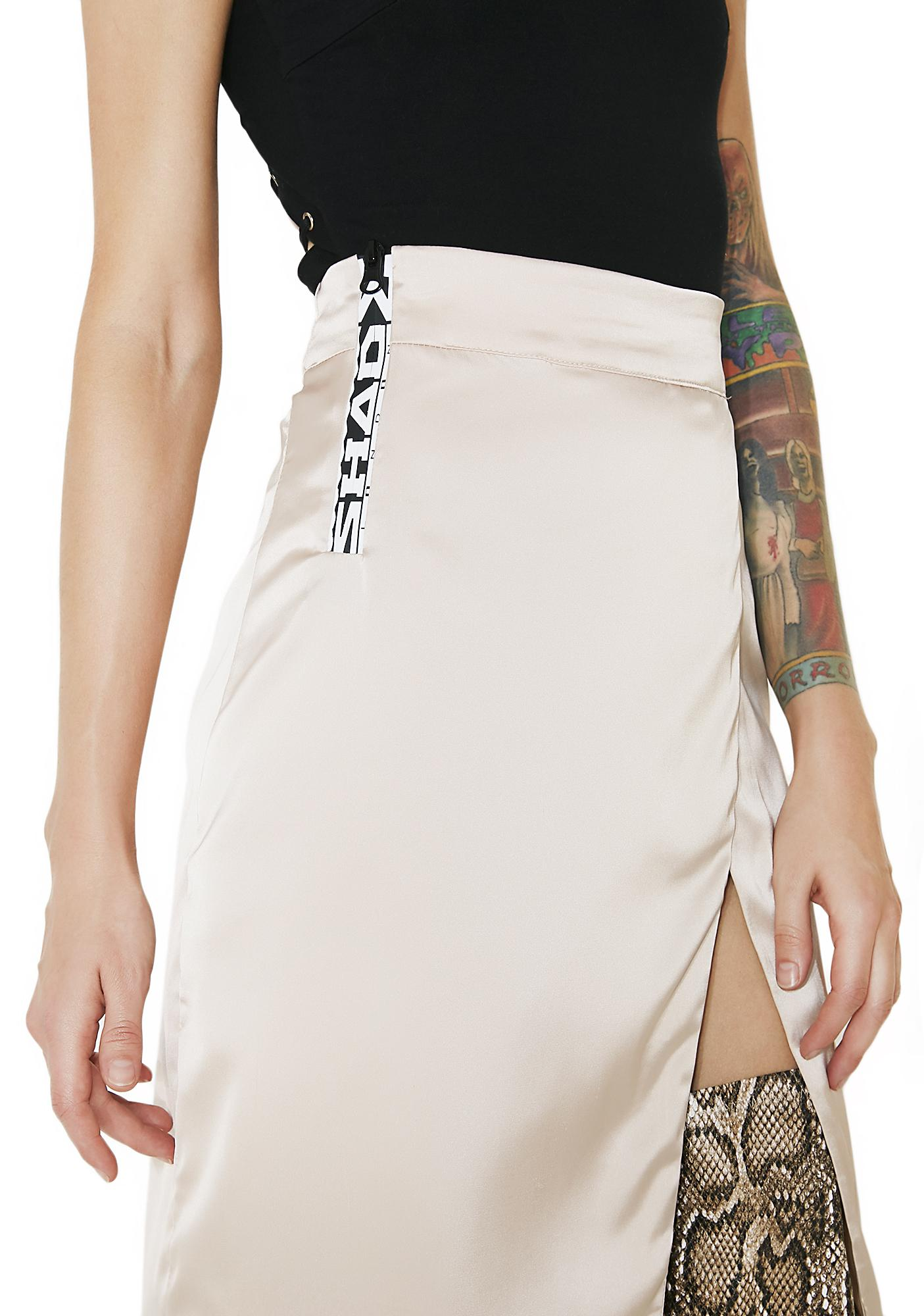 Shade London Zip High Slit Skirt