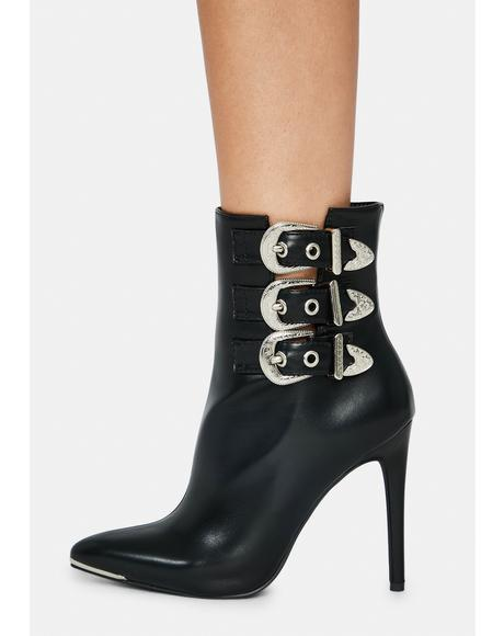 Hamilton Buckle Ankle Boots