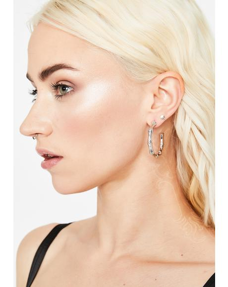 Trendy Kween Hoop Earrings