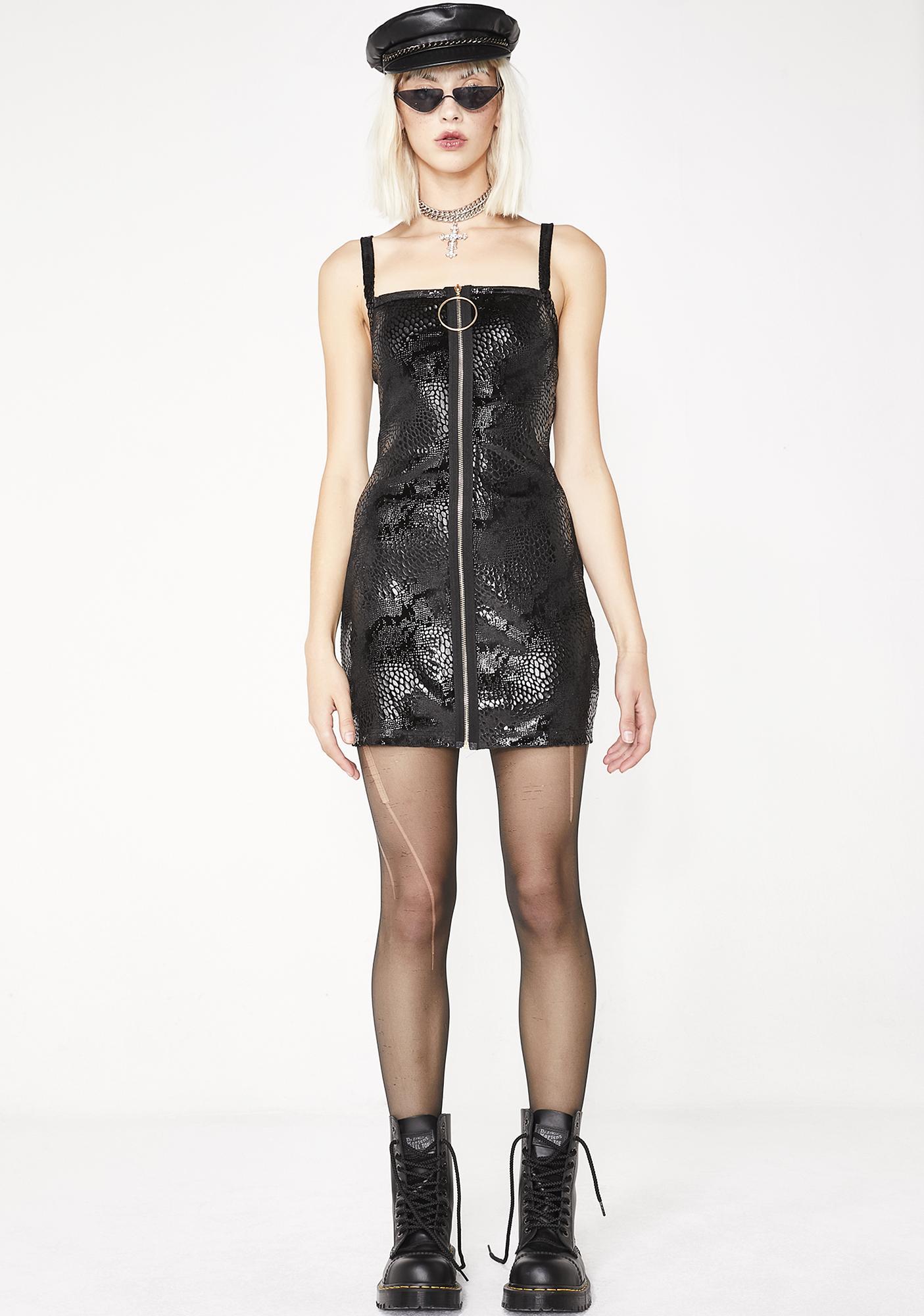Elsie & Fred Sadie Snake Print Mini Dress