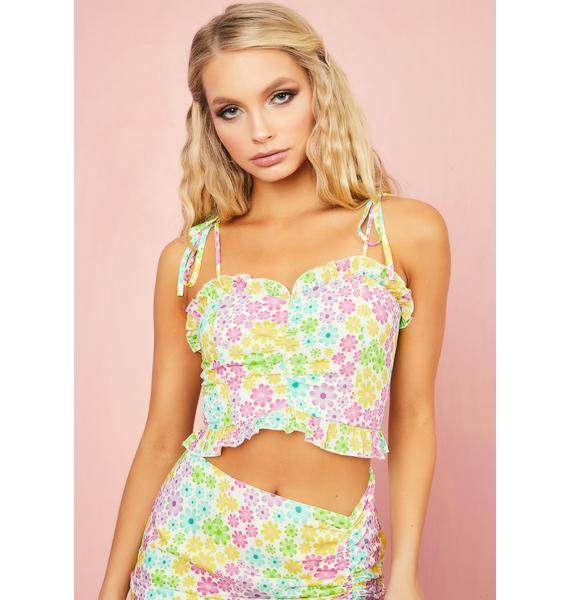 Sugar Thrillz Pretty As A Daisy Crop Top