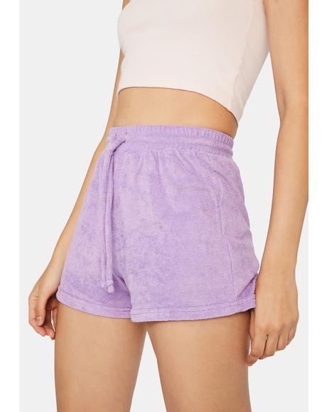 Lavender Not Playing Games Lounge Shorts