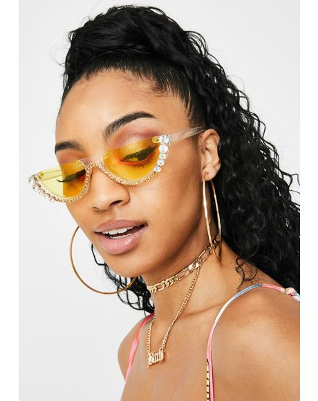 Sunny True Diva Rhinestone Sunglasses