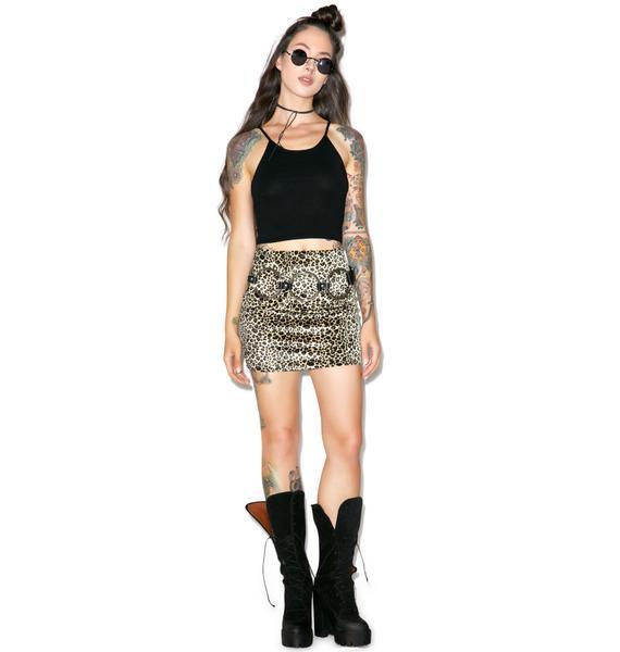 Glamorous Buffy Knit Crop Top