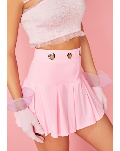 Candy Coated Kiss Pleated Skirt