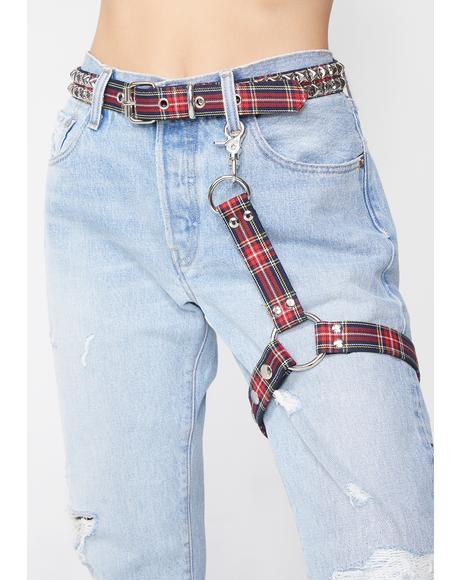 Skater Grl Plaid Harness