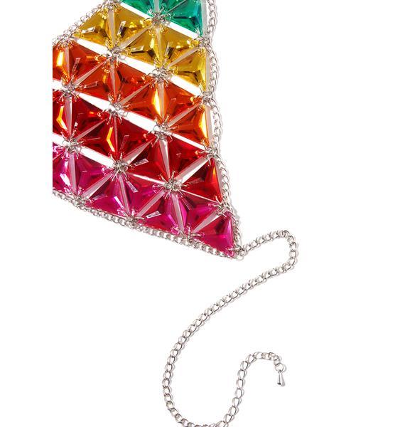 Jaded London Rainbow Jeweled Bra