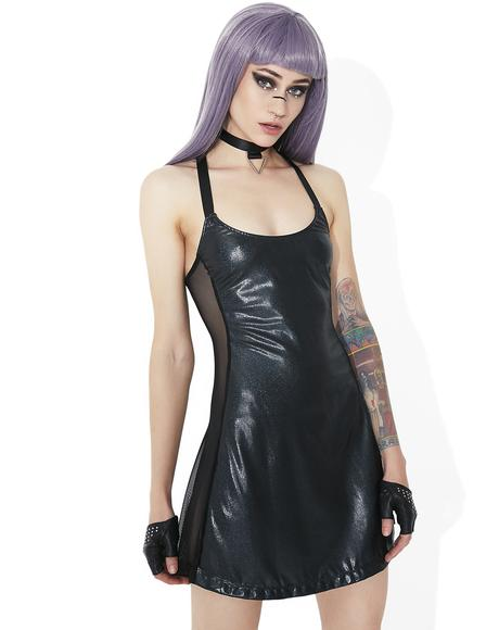 Shadow Trance Choker Mini Dress