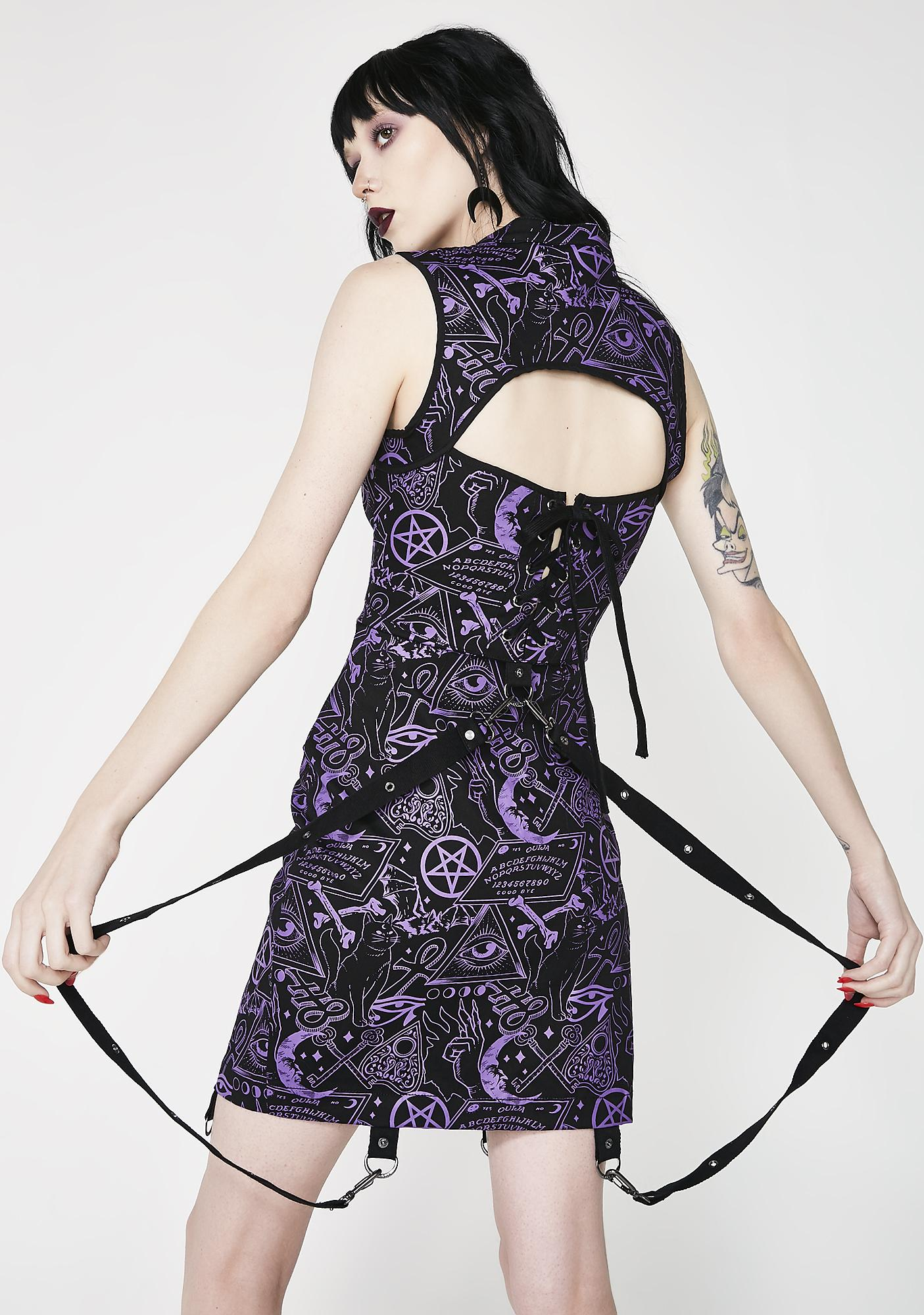 Killstar Miss Morbid Buckle Up Dress