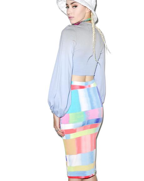 Abstract Rainbow Skirt