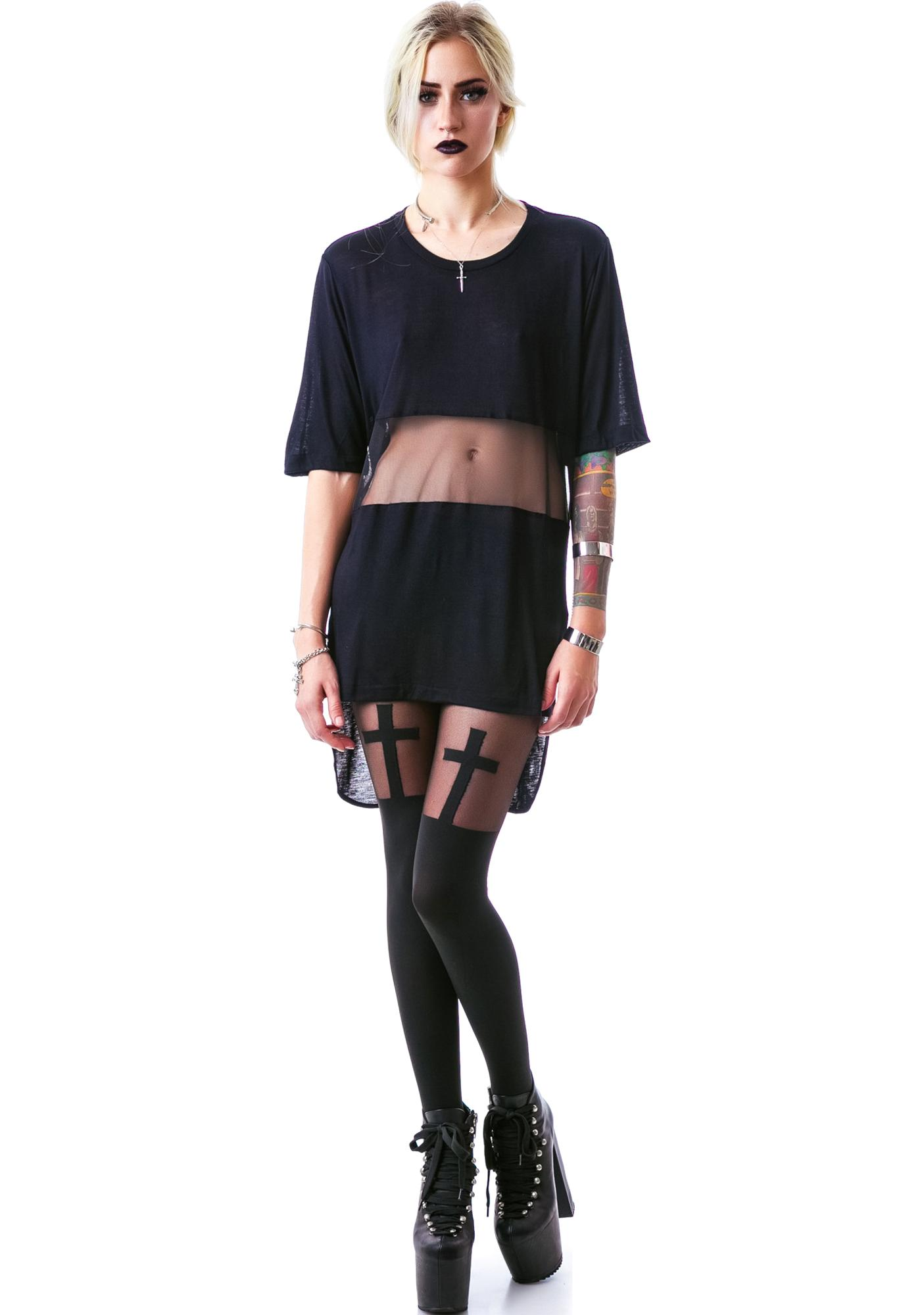Widow Darkest Hour Jersey Mesh Top