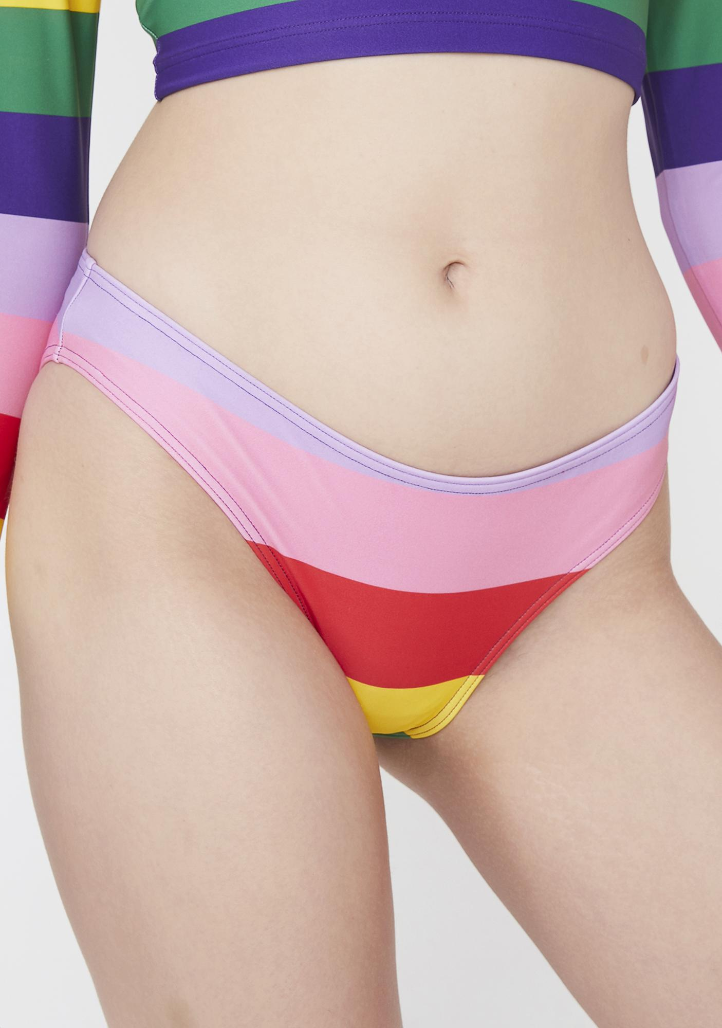 Lazy Oaf Rainbow Bikini Briefs