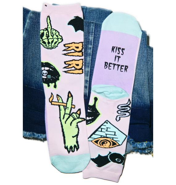 Stance Punk N Patch Pastel Socks
