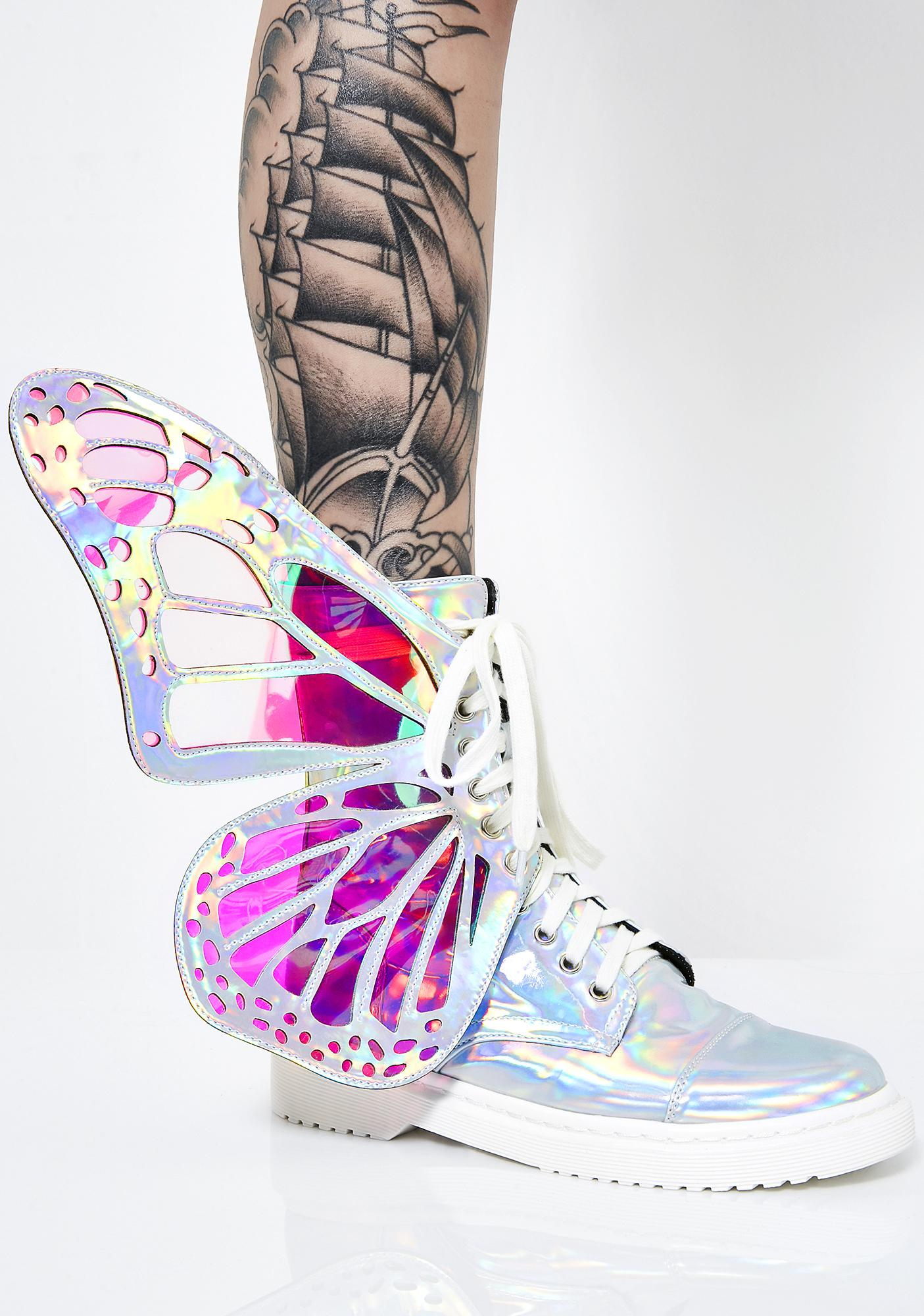 Club Exx HOLOGRAPHIC METAMORPHIC BOOTS