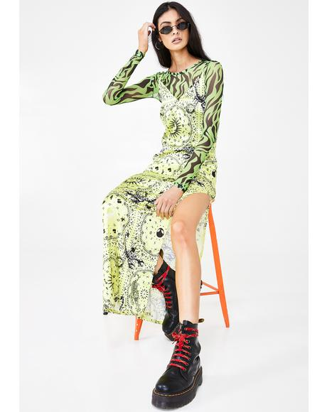 Scorpio Scarf Maxi Dress