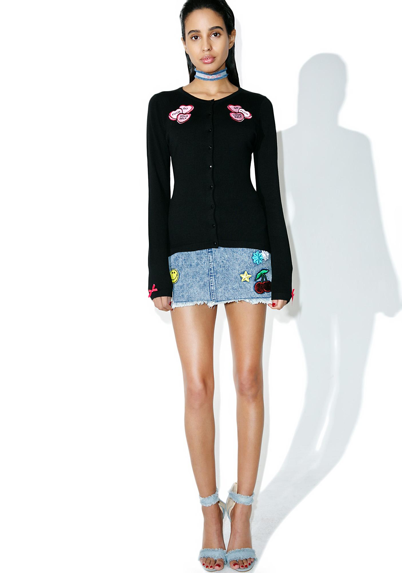 Sourpuss Clothing Candy Hearts Cardigan