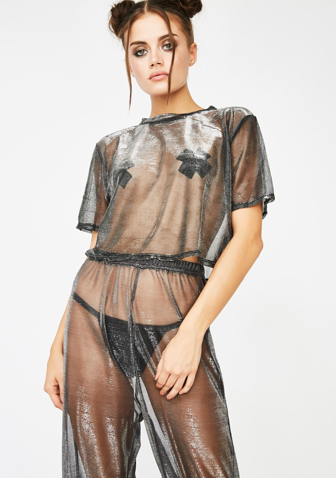 Sheer Corruption Pant Set