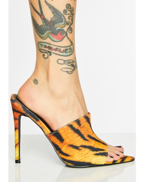 Fierce Queendom Stiletto Mules