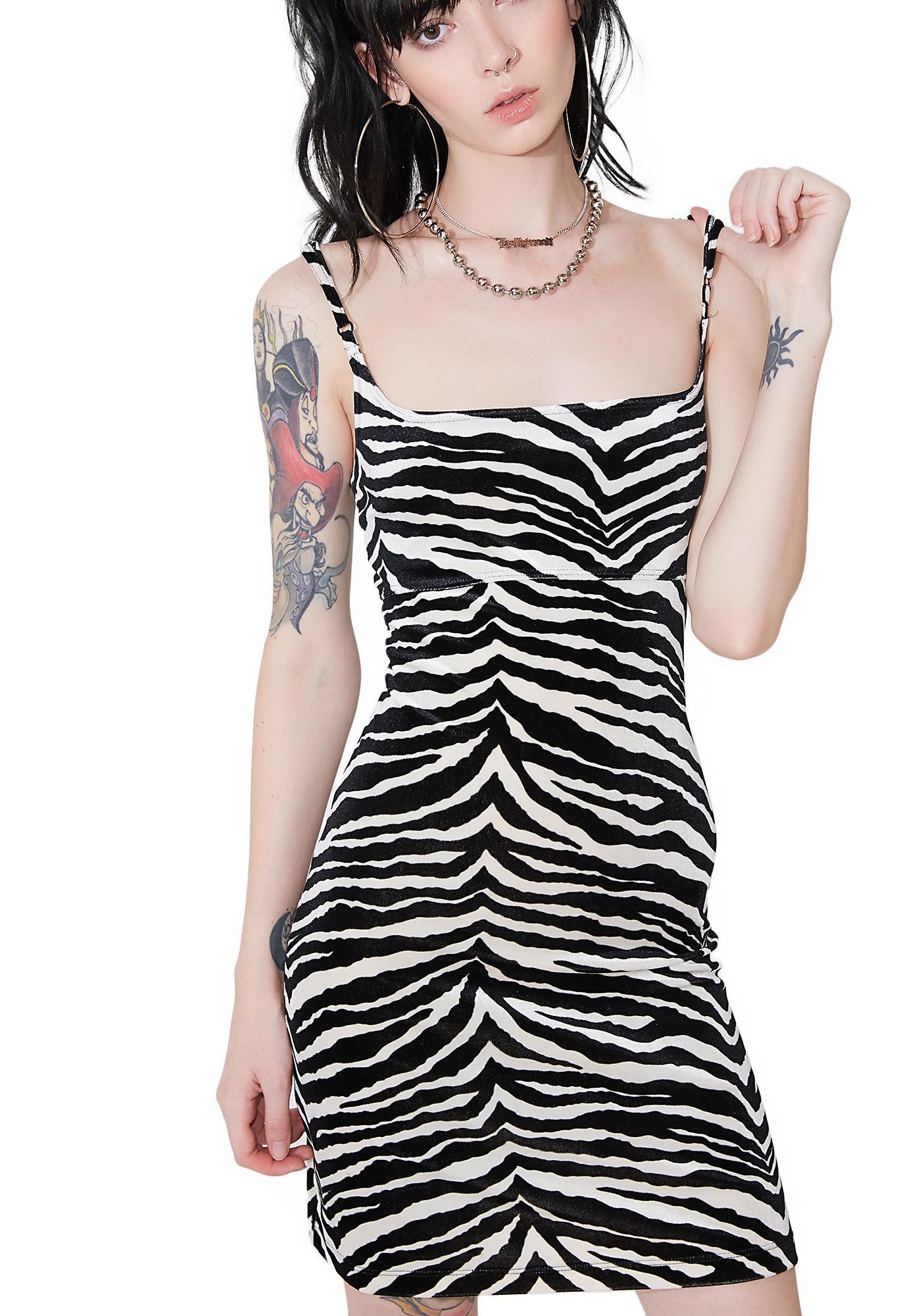 Vintage Zebra Bodycon Dress