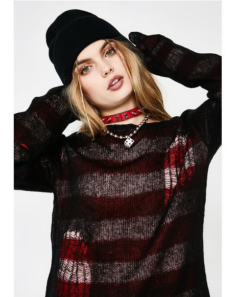 Reverse Stripe Sweater