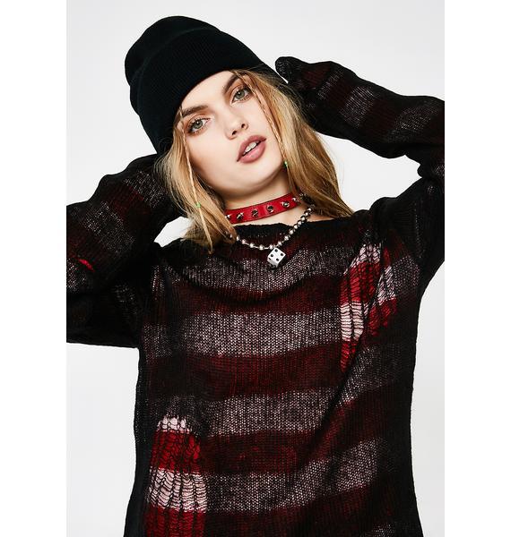 Tripp NYC Reverse Stripe Sweater