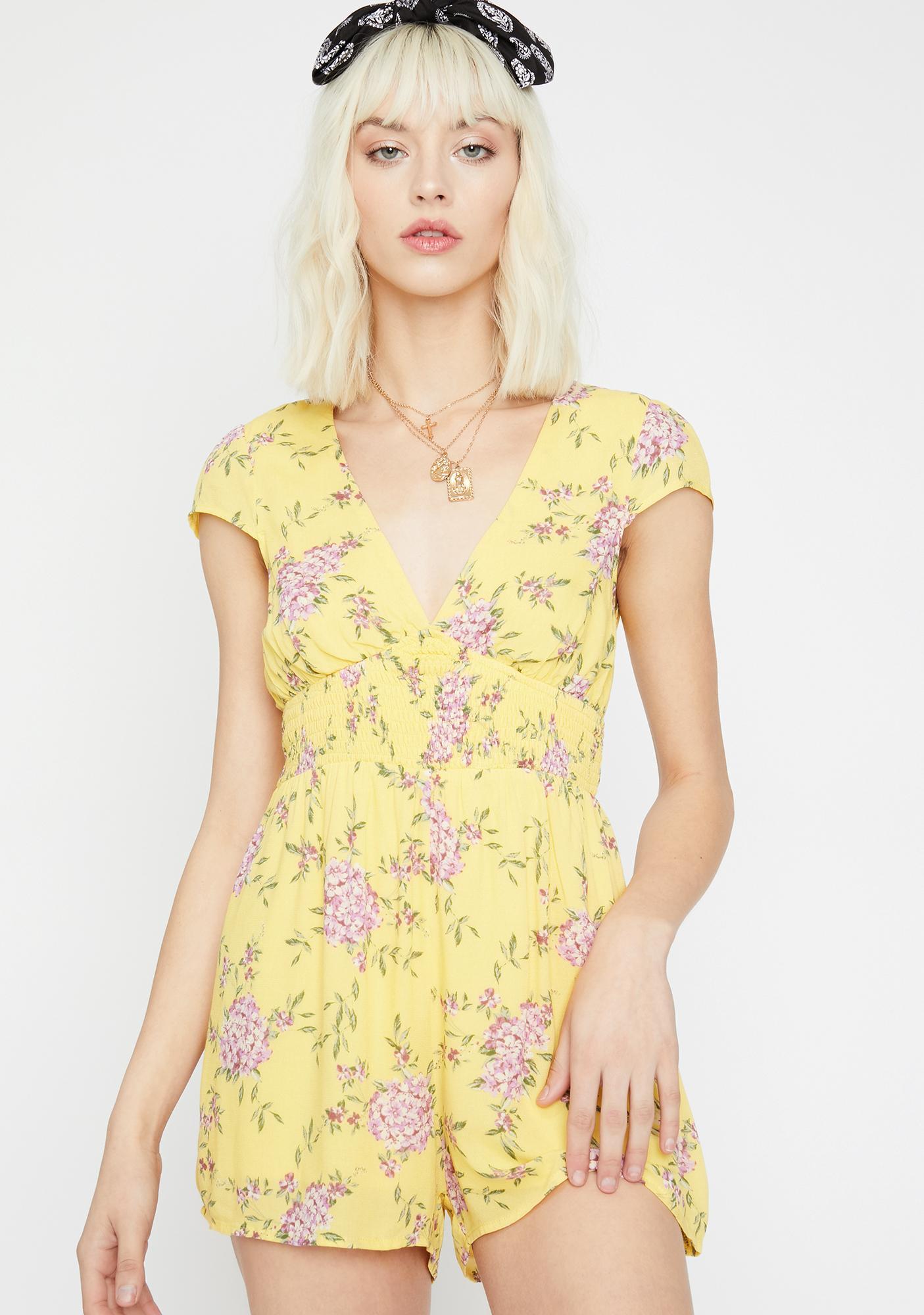 6d8694aa9cf Sunshine Sass Floral Romper
