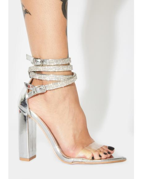 Diamond Icey Affair Rhinestone Block Heels