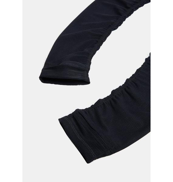 DARKER WAVS Kickdrum Ribbed Logo Arm Warmers