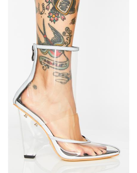 Kitty Reflective Heels