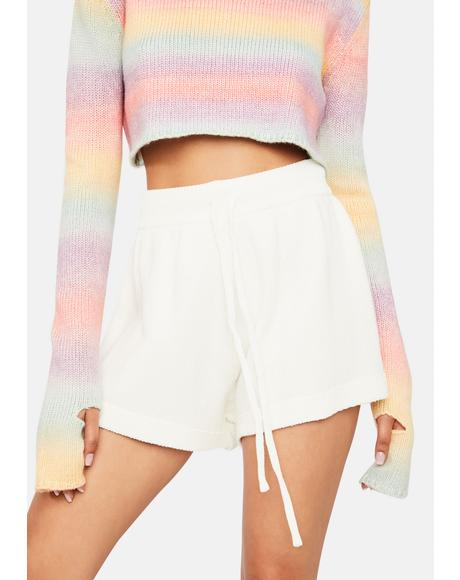 Snow Long Weekend Love Knit Lounge Shorts